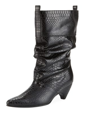 Stella McCartney Runway Snake-Embossed Boot