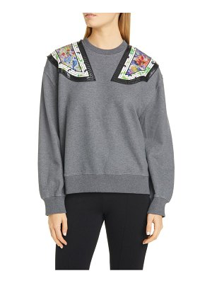 Stella McCartney shoulder applique sweatshirt