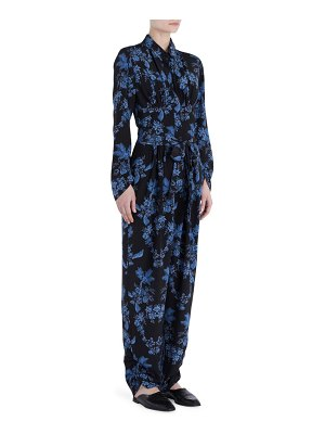 Stella McCartney silk floral print jumpsuit