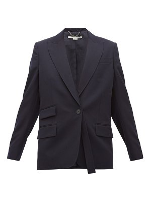 Stella McCartney single breasted wool twill blazer