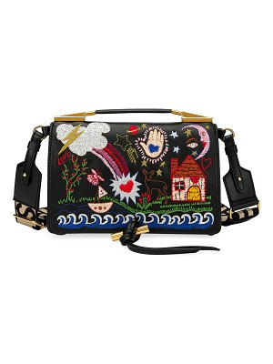 Stella McCartney Small Alter Napa Scenery Embroidered Shoulder Bag