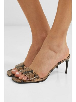 Stella McCartney net sustain snake-effect faux leather mules