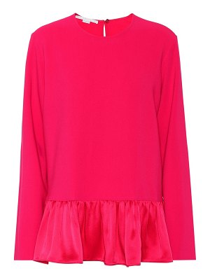 Stella McCartney Stretch cady peplum blouse