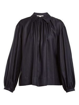 Stella McCartney Stripe-jacquard silk blouse