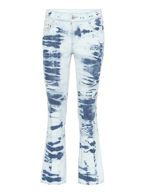 Stella McCartney tie dye cotton cropped jeans