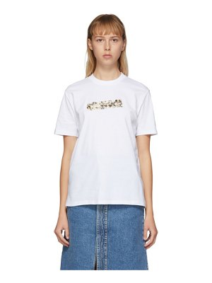 Stella McCartney white floral tape t-shirt