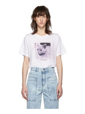 Stella McCartney white kitten t-shirt