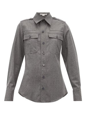 Stella McCartney wool flannel military shirt