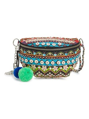 Steve Madden beaded convertible belt bag