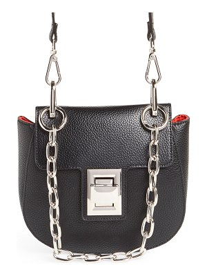 Steve Madden draped chain faux leather crossbody bag