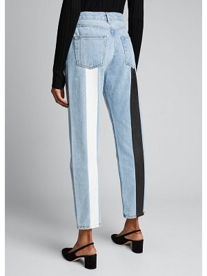 Still Here Tate Cropped Jeans with Contrast Panels
