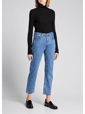 Still Here Tate Cropped Straight-Leg Jeans with Painted Stripes