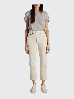 Still Here Tate Cropped Straight-Leg Jeans