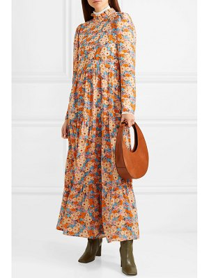 Stine Goya judy tiered floral-print silk crepe de chine maxi dress