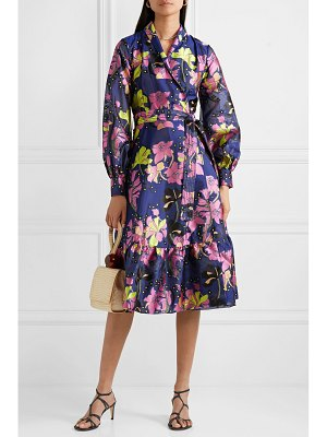 Stine Goya niki floral-jacquard wrap dress
