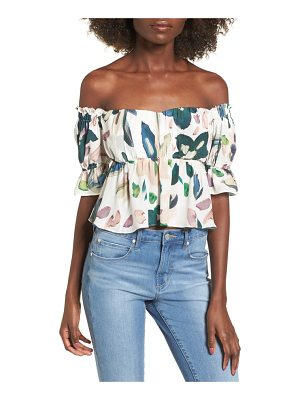 STONE COLD FOX monte off the shoulder top