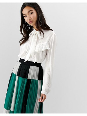 Stradivarius blouse with bow and frill detail