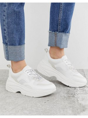 Stradivarius chunky sneakers in white