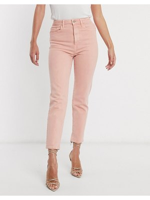 Stradivarius slim mom jean in pink
