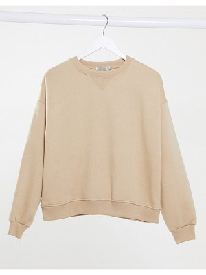 Stradivarius str oversized sweatshirt in beige