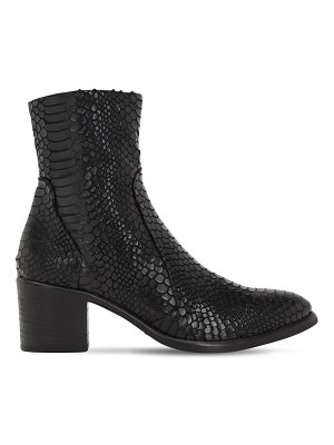 STRATEGIA 50mm python embossed leather boots