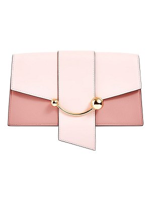 STRATHBERRY mini crescent leather clutch