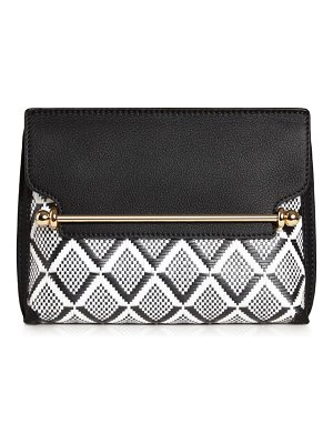 STRATHBERRY mini stylist woven leather convertible clutch