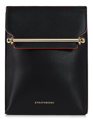 STRATHBERRY north/south stylist calfskin leather convertible clutch