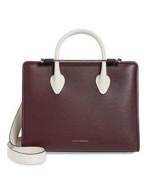 STRATHBERRY tricolor midi leather tote
