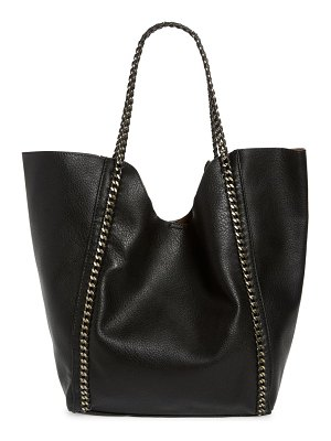 Street Level chain faux leather tote