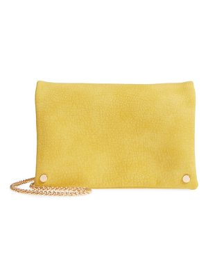 Street Level studded faux leather clutch