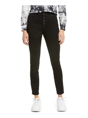 STS Blue ellie high rise ankle exposed button jeans