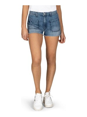STS Blue high waist fray hem denim shorts