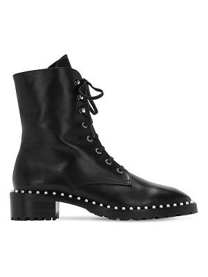 Stuart Weitzman 25mm allie leather combat boots