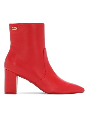 Stuart Weitzman 75mm linaria leather ankle boots