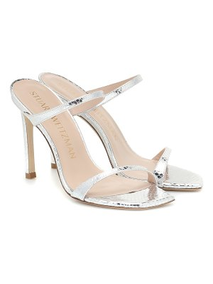 Stuart Weitzman aleena snake-effect leather sandals