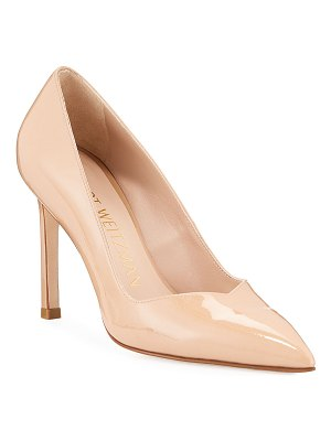 Stuart Weitzman Anny Patent Leather Pointed Pumps