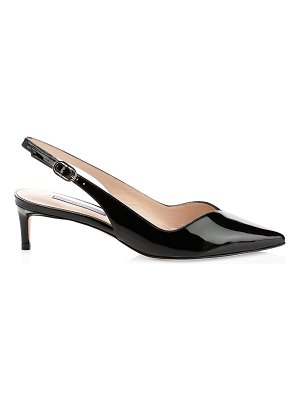 Stuart Weitzman edith patent leather slingbacks