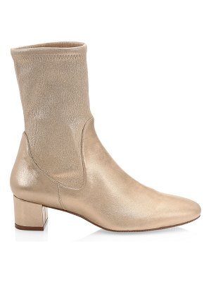 Stuart Weitzman Ernestine Metallic Leather Sock Boots