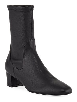 Stuart Weitzman Ernestine Stretch Leather 45mm Booties