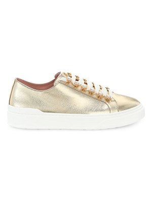 Stuart Weitzman excelsa metallic leather sneakers