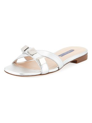 Stuart Weitzman Flat Metallic Studded Sandals