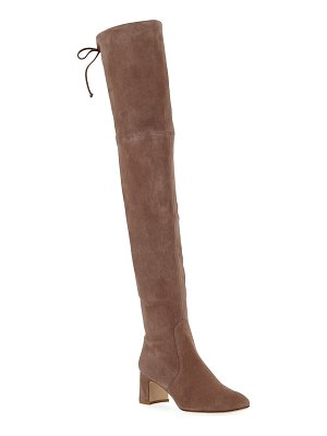 Stuart Weitzman Kirstie 60mm Suede Over-The-Knee Boots