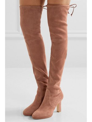 Stuart Weitzman ledyland suede platform over-the-knee boots