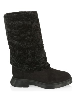 Stuart Weitzman luiza shearling & suede knee-high boots