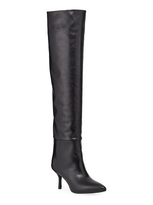 Stuart Weitzman Millie Leather Over-The-Knee Boots