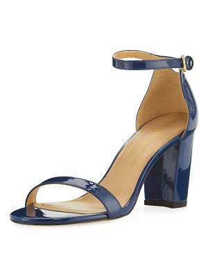 Stuart Weitzman Nearlynude Aniline Leather City Sandals