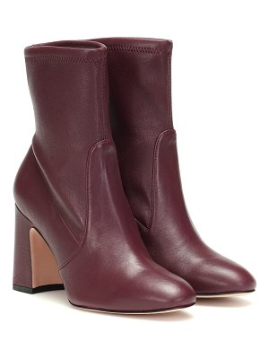 Stuart Weitzman niki 90 leather ankle boots