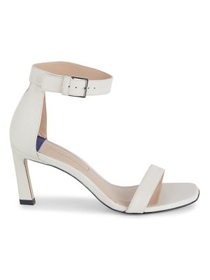 Stuart Weitzman Nudist Leather Ankle-Strap Sandals