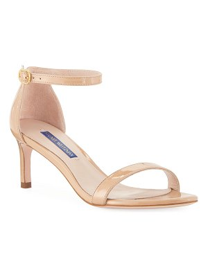Stuart Weitzman Nunaked Straight Patent Leather Sandals